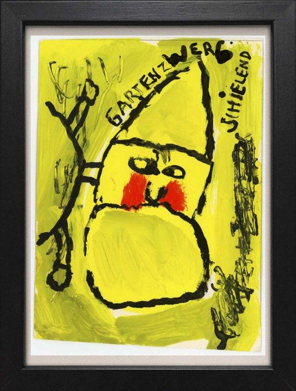 "TINY ART, OZ-Nr. 128: ""Gartenzwerg schielend"""