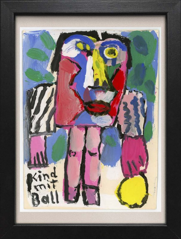 "TINY ART, OZ-Nr. 56: ""Kind mit Ball"""
