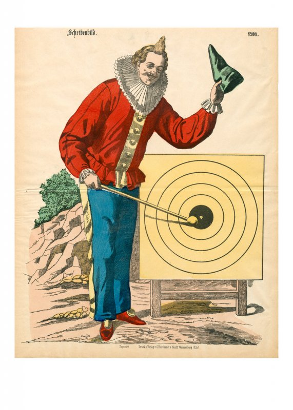 Zielscheibe – Clown