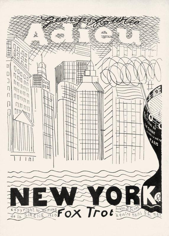 """""""Adieu NYC, Fox Trot, Deckblatt"""""""