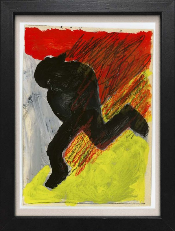 TINY ART, OZ-Nr. 137: schwarze Figur vor Farbe