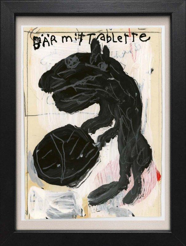 """TINY ART, OZ-Nr. 131: """"Bär mit Tablette"""""""