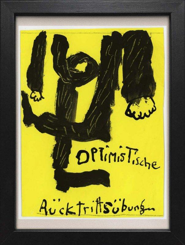 """TINY ART, OZ-Nr. 114: """"Optimistische Rücktrittsübung"""""""