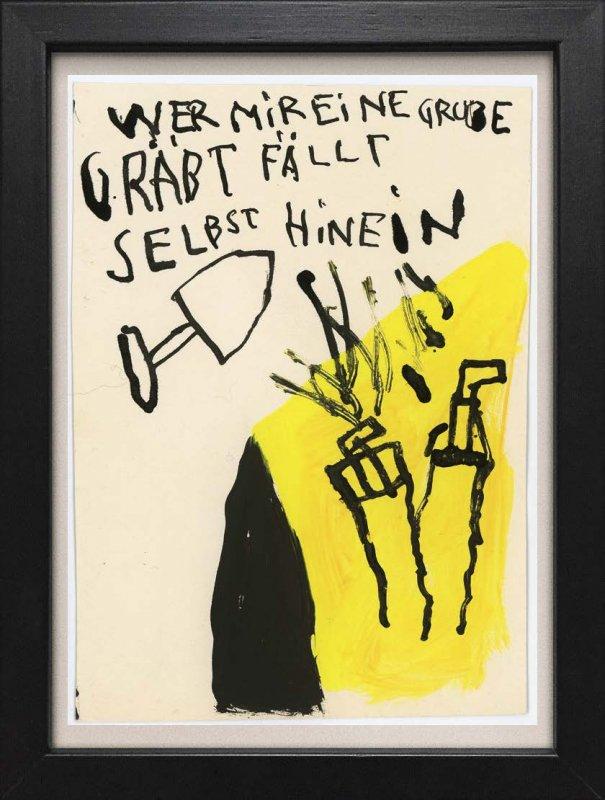 """TINY ART, OZ-Nr. 90: """"Wer mir eine Grube.."""""""