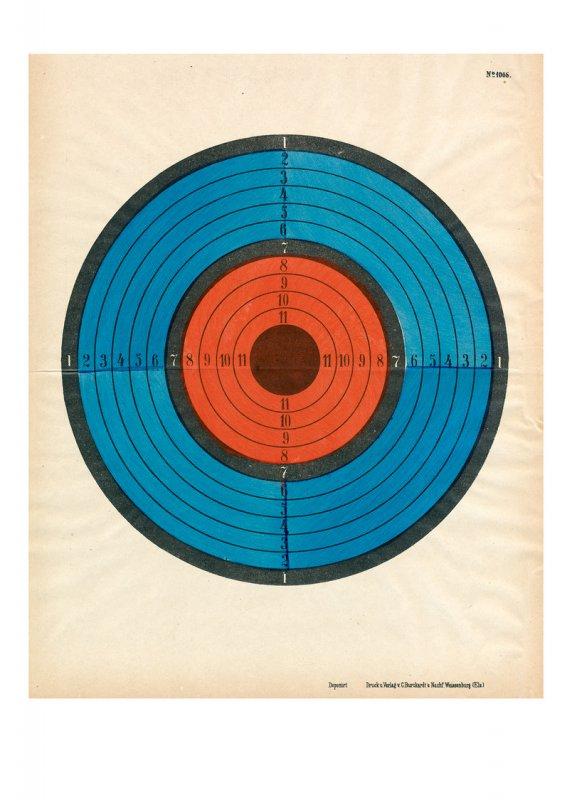 Zielscheibe – Rotblau