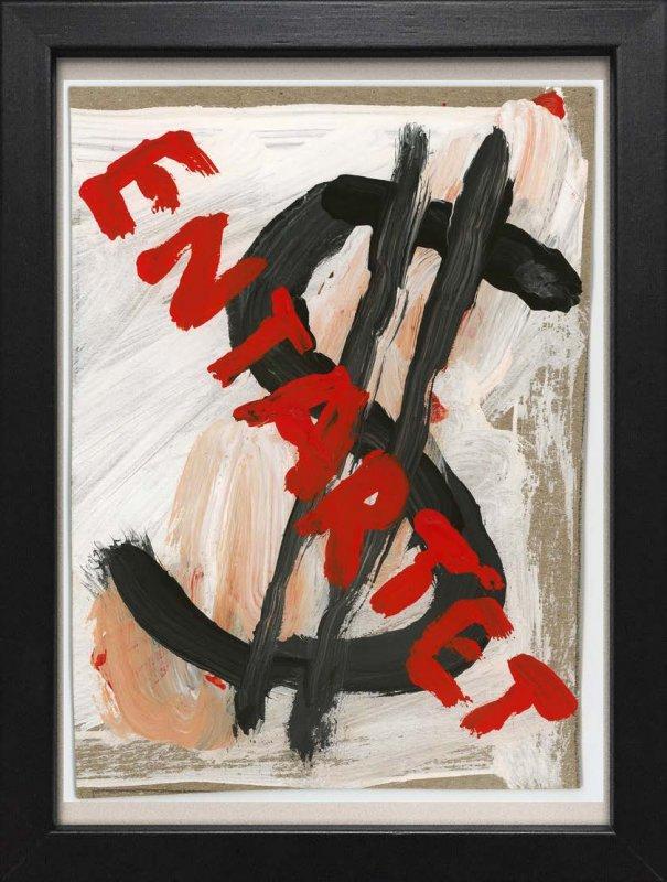 """TINY ART, OZ-Nr. 97: """"Entartet ,$-schwarz"""""""