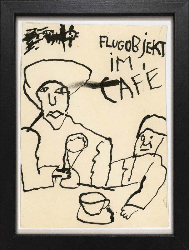 """TINY ART, OZ-Nr. 47: """"Flugobjekt im Café"""""""